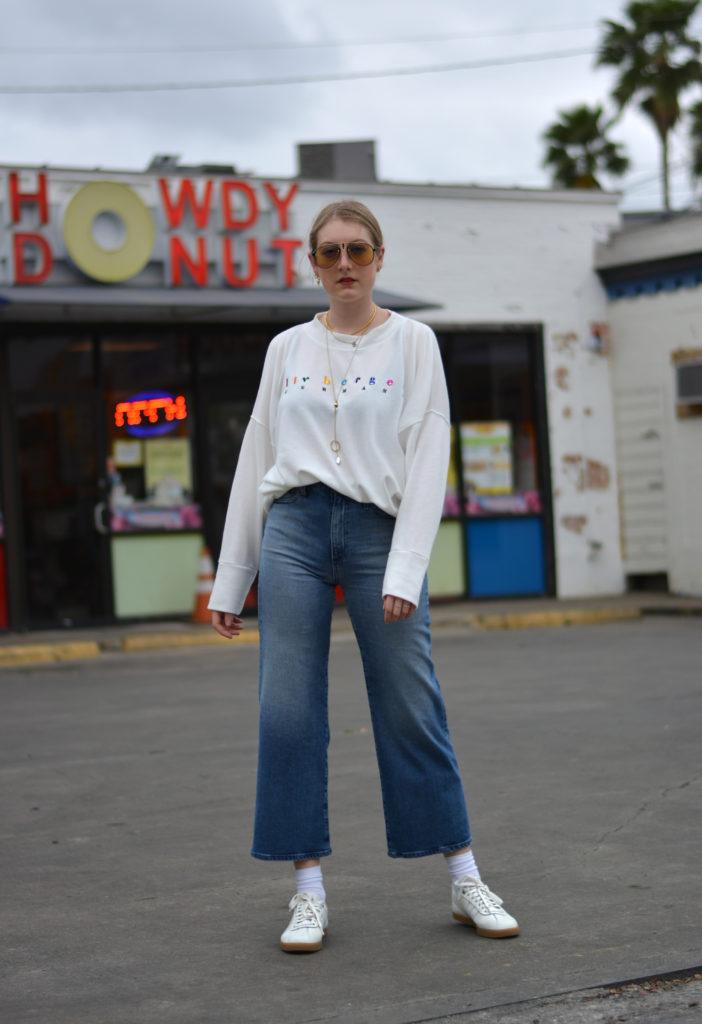 Full look Liv Bergen, AG Jeans & DEICHMANN