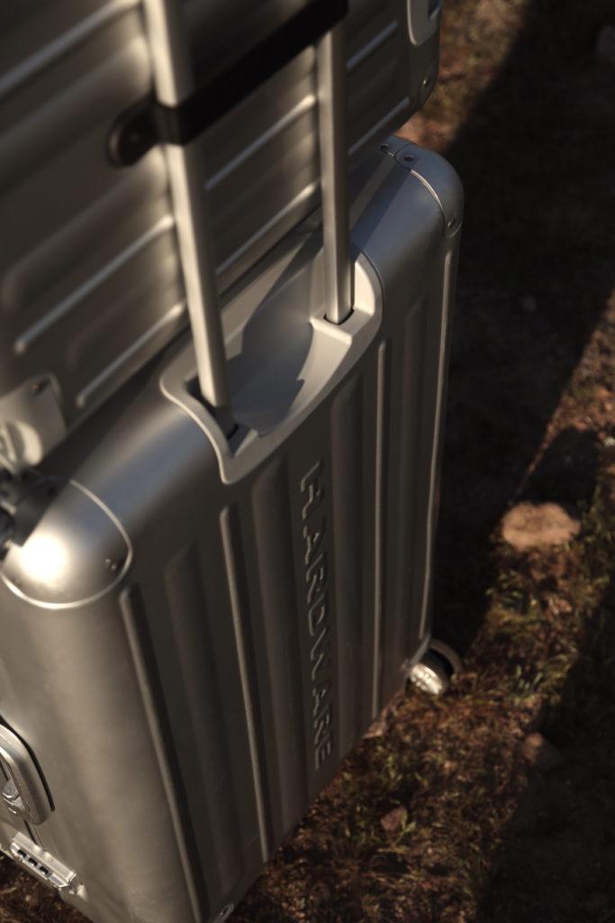 Hardware Koffer Aluminium silber Rückansicht