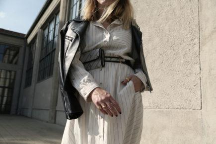 Lederjacke Claudie Pierlot dunkelblau Details Herbstlook